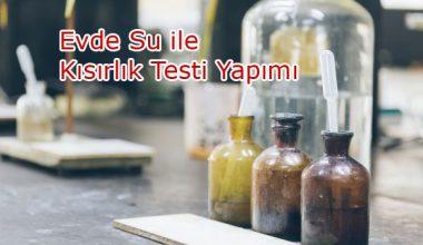 Su İle Kısırlık Testi Yapımı